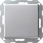 GIRA | 0121203 Выключатель 1кл с самовозв плоский унив. перекл. под алюминий E22 Gira