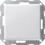 GIRA | 0123201 Выключатель 1кл с самовозв плоский прох. перекл. под белый E22 Gira