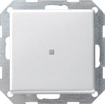 GIRA | 0124203 Выключатель 1кл с самовозв плоский унив. с подсв. под алюминий E22 Gira