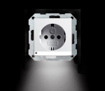 GIRA   117028 Розетка с з/к глянц. LED подсветка антроцит System 55 Gira