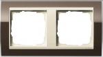 GIRA | 0212761 Рамка 2-местная Klar коричневый крем Event Klar Gira