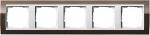 GIRA   0215763 Рамка 5-местная Klar коричневый/белый Event Klar Gira