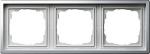 GIRA | 0213115 Рамка 3-местная хром F-100 Gira