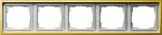 GIRA | 0215113 Рамка  5-местная латунь  F-100 Gira