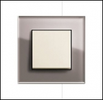 GIRA | 0213122 Рамка 3-местная стекло дымчатое Esprit Umbra Gira