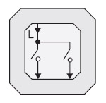 GIRA | 010500 Выключатель 2 клавишный  10A/250V Gira