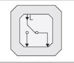 GIRA | 010600 Выключатель 1 клавишный для вкл/выкл с двух местный 10A/250V Gira