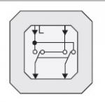 GIRA | 010700 Выключатель перекресный 1 клавишный 2 переключающих контакта  10A/250V Gira