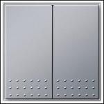 GIRA | 012565 Выключатель 1кл с самовозвратный переключатель алюминий Gira