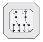 GIRA | 010800 Выключатель перекресный 1 клавишный 2 переклющающих контакта  10A/250V Gira