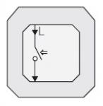 GIRA | 015100 Механизм 1кн выключателя с змык.контактом (однополюсн) Gira