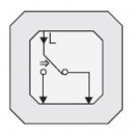 GIRA | 015600 Механизм 1кн выключателя с переключ. контакт. однополюсн. Gira