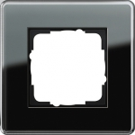 GIRA   0211505 Рамка 1--местная стекло черное закругл. Esprit Gira