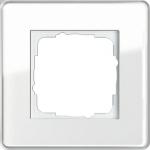 GIRA   0211512 Рамка 1-местная стекло белое закругл. Esprit Gira