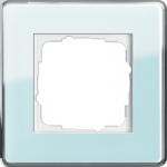 GIRA   0211518 Рамка 1-местная стекло зеленое закругл. Esprit Gira