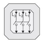GIRA | 010300 Трехполюсный выключатель 16/400 Gira