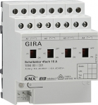 GIRA | 100400 Реле Instabus KNX/EIB, 4-канальное 16А с ручным управлением Gira