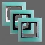 GIRA | 021151 Рамка 1-местная матовый зелёный аллюминий Event Gira