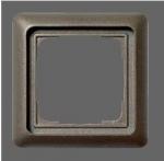 GIRA | 21156 Рамка 1-местная коричневый/металл F-Line Gira