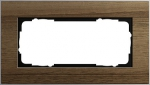 GIRA | 1002129 Рамка 2-местная без перегородки орех Esprit Gira