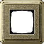 GIRA | 0211661 Рамка 1-местная бронза/бронза+гравировка ClassiX Art Gira