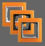 GIRA | 021187 Рамка 1-местная оранжевый антрацит Event Gira