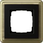 GIRA | 0211622 Рамка 1-местная бронза/черная Classix Gira