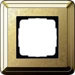 GIRA | 0211671 Рамка 1-местная латунь/латунь+гравировка ClassiX Art Gira