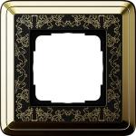 GIRA | 0211672 Рамка 1-местная латунь/черная+гравировка ClassiX Art Gira
