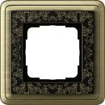 GIRA | 0211662  Рамка 1-местная бронза/черная+гравировка ClassiX Art Gira