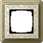 GIRA | 0211663 Рамка 1-местная бронза/крем+гравировка ClassiX Art Gira