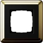 GIRA | 0211632 Рамка 1-местная латунь/черная Classix Gira