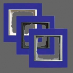 GIRA | 0211399 Рамка 1-местная матовый синий белый  Event Gira