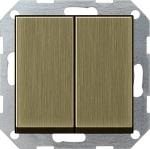 GIRA | 0125603 Выключатель 2кл с самовозв бронза Standart 55 Gira