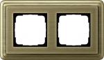 GIRA | 0212621 Рамка 2-местная бронза/бронза Classix Gira