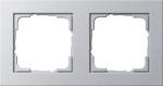 GIRA | 021225 Рамка 2-местная аллюминий E2 Gira
