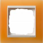 GIRA | 0211397 Рамка 1-местная мат.оранжевая /глянцевая белая  Event Gira