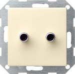 GIRA | яяя040328 Розетка для подкл  акуст. систем накладка с разъемами Cinch (Тюльпан) черный System55 Gira