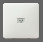 GIRA   29056 СНЯТО Клавиша с контрольным отверстием для кл./кн. выкл.(2-/3-пол.) коричневый. F-Line Gira
