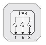 GIRA | 014900 Механизм 3-ступенчатого выключателя (с начальн. положен.) Gira