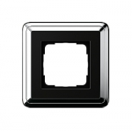 GIRA | 0211642 Рамка 1-местная black/silver Classix Gira