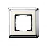 GIRA | 0211643 Рамка 1-местная cream/silver Classix Gira
