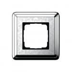 GIRA | 0211681 Рамка 1-местная silver/silver+гравировка Classix Gira