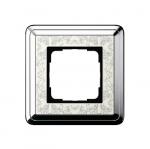 GIRA | 0211683 Рамка 1-местная cream/silver+гравировка Classix Gira