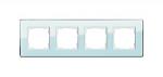 GIRA | 0214518 Рамка 4-местная стекло зеленое закругл Esprit Gira