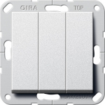 GIRA | 283020 Выключатель 3кл Британский стандарт вкл/выкл сталь Gira