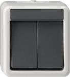 GIRA | 010530 Выключатель двуклавишный IP44 Gira