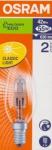 OSRAM | E14 свеча 46W(=60W)  ECO 64543 B галогенная лампа Osram 4008321998187