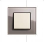 GIRA | 0215122 Рамка 5-местная стекло дымчатое Esprit Umbra Gira