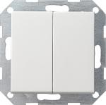 GIRA | 012527 Выключатель 2кл с самовозв мат.бел Standart 55 Gira